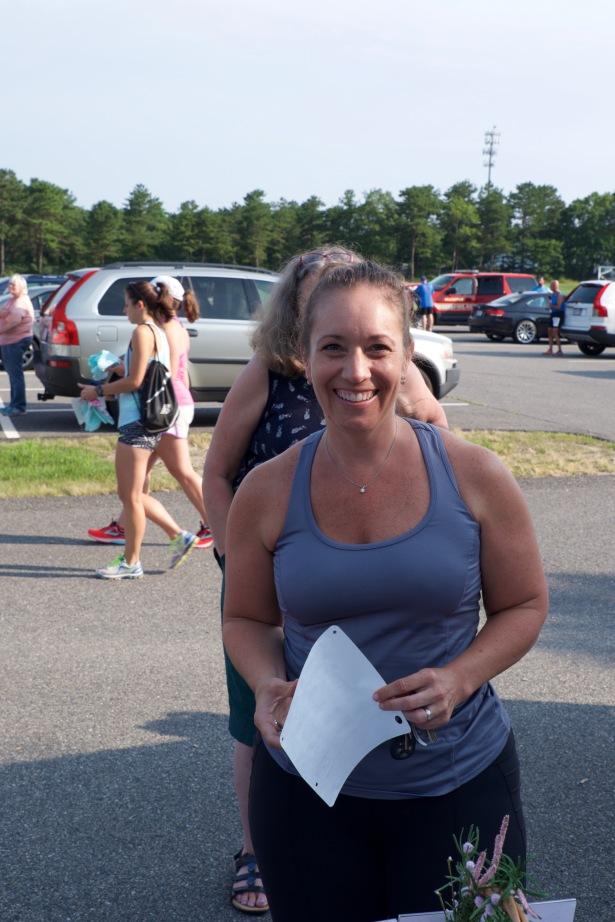 Special lady: Rhiannon & Michaela's track coach